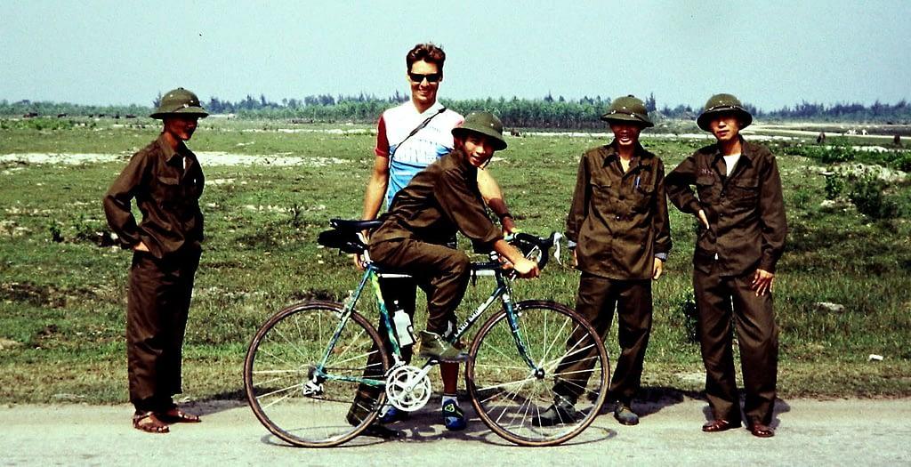 Patrick Morris bicycle tour of Vietnam in 1994