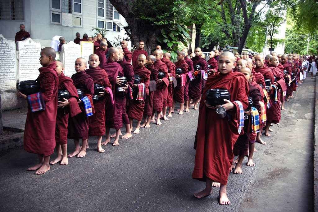 Monks in Amarapura