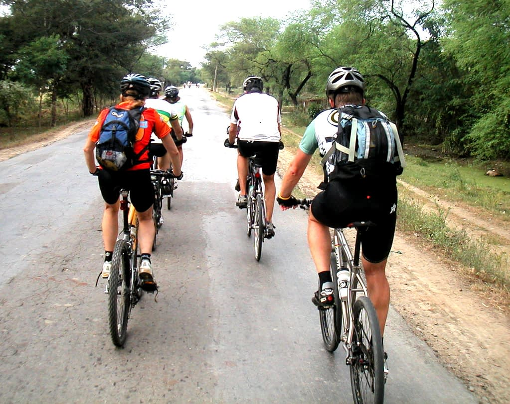 Myanmar bicycle tour group