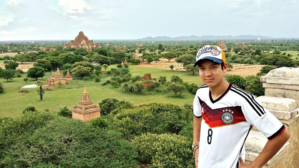 Mario Morris looking over the temple plain in Bagan