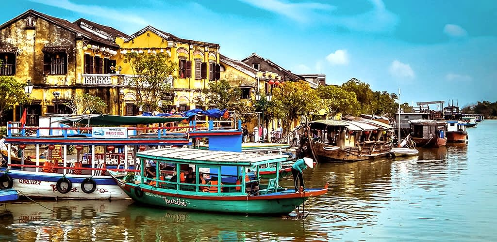 Riverfront in Hoi An, Vietnam